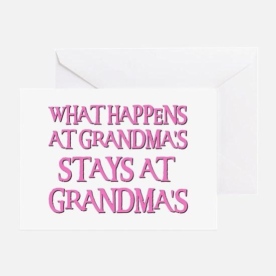 STAYS AT GRANDMA'S (pnk) Greeting Card
