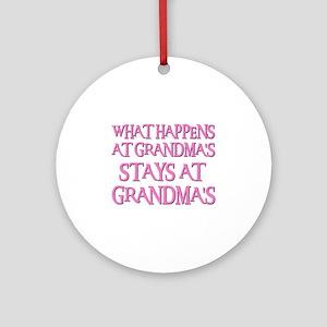 STAYS AT GRANDMA'S (pnk) Ornament (Round)