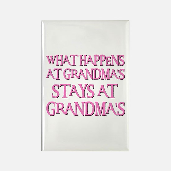 STAYS AT GRANDMA'S (pnk) Rectangle Magnet