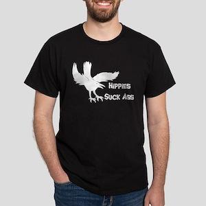 Hippies Suck Ass Dark T-Shirt