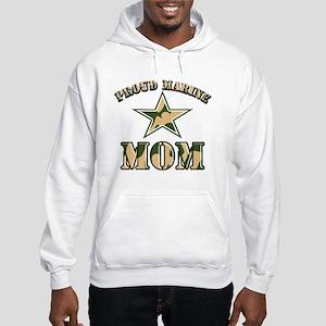 Proud Marine Mom Hooded Sweatshirt
