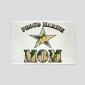Proud Marine Mom Rectangle Magnet