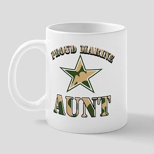 Proud Marine Aunt Mug