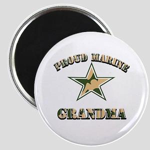 Proud Marine Grandma Magnet