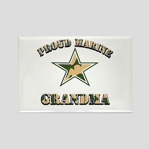 Proud Marine Grandma Rectangle Magnet