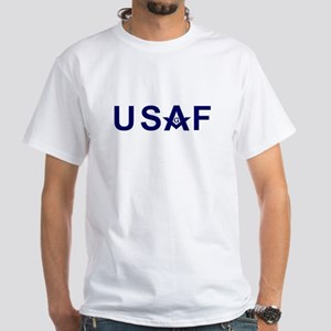 Masonic US Air Force White T-Shirt