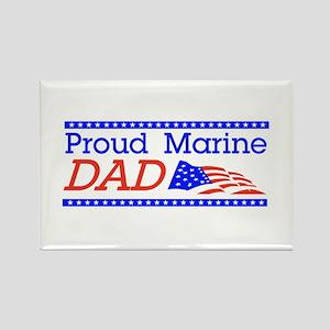 Proud Marine Dad Rectangle Magnet