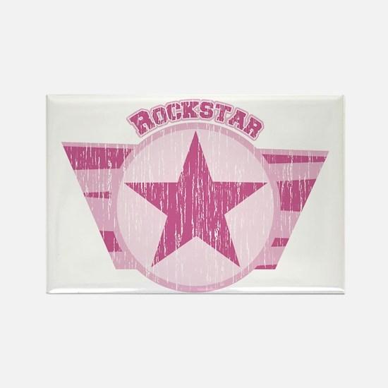 Rockstar Vintage Pink Rectangle Magnet