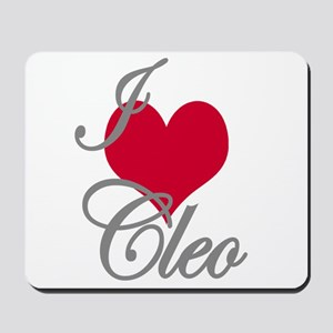 I love (heart) Cleo Mousepad