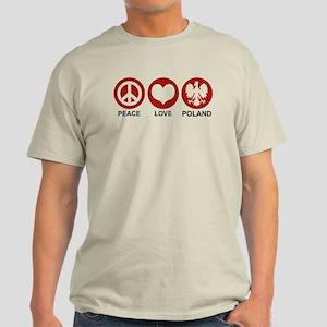 Peace Love Poland Light T-Shirt