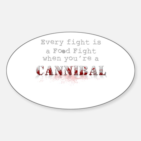 Food Fight Oval Decal