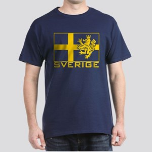 Sverige Flag Dark T-Shirt