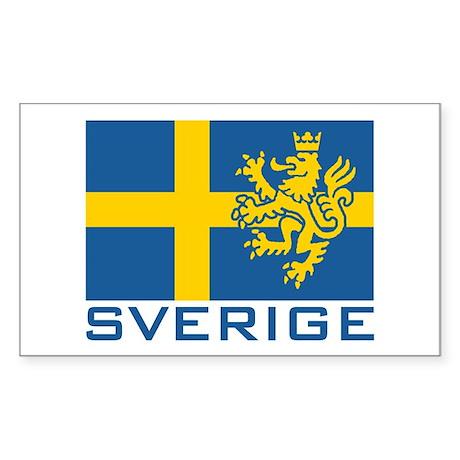 Sverige Flag Rectangle Sticker