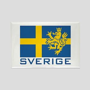 Sverige Flag Rectangle Magnet
