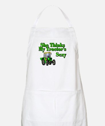 She Thinks My Tractors Sexy BBQ Apron