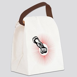 Clenched Fist With Rising Sun Ret Canvas Lunch Bag