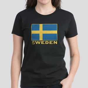 Sweden Flag Women's Dark T-Shirt