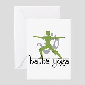 Hatha Yoga Greeting Card