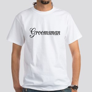 """Groomsman"" White T-Shirt"