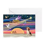 XmasAngel - Beagle Greeting Cards (Pk of 10)