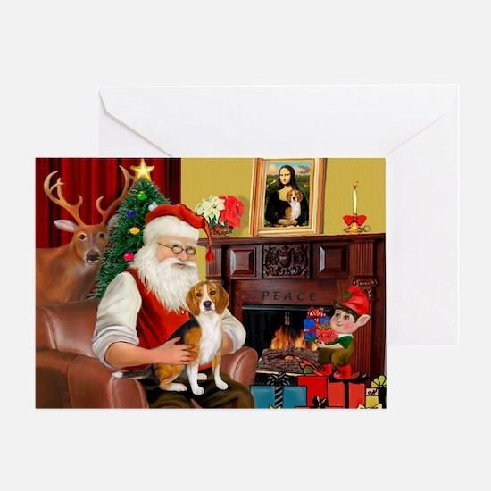 Santa's Beagle Greeting Card