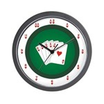Poker Table Wall Clock