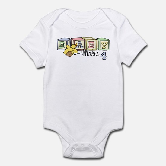 Baby Makes 4 Infant Bodysuit