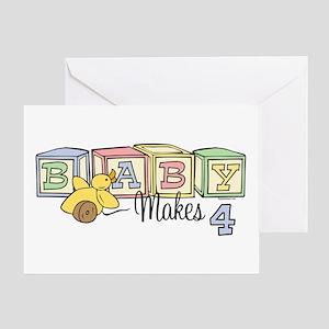 Baby Makes 4 Greeting Card