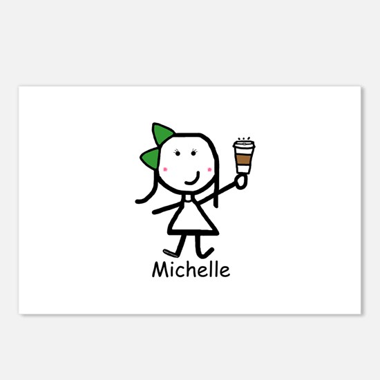 Coffee - Michelle Postcards (Package of 8)