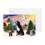 SantasTreat-Bernese MDog Greeting Card