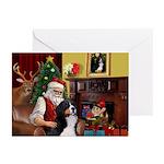 Santa's Bernese MDog Greeting Cards (Pk of 10)