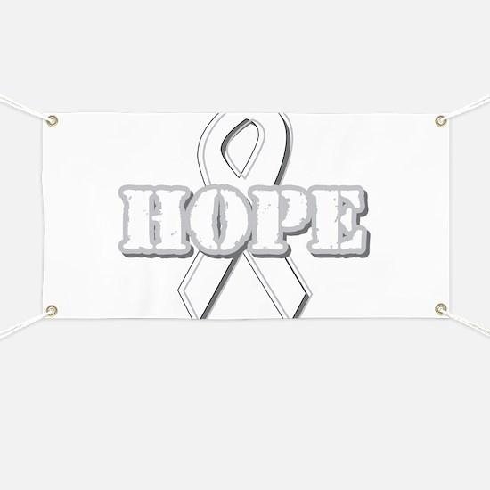 White Hope Ribbon Banner