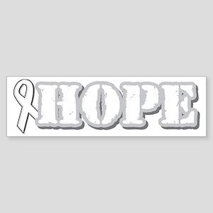 White Hope Ribbon Bumper Sticker