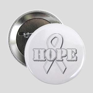 """White Hope Ribbon 2.25"""" Button"""