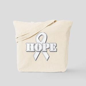 White Hope Ribbon Tote Bag