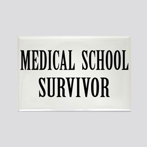 Survived Med School Rectangle Magnet