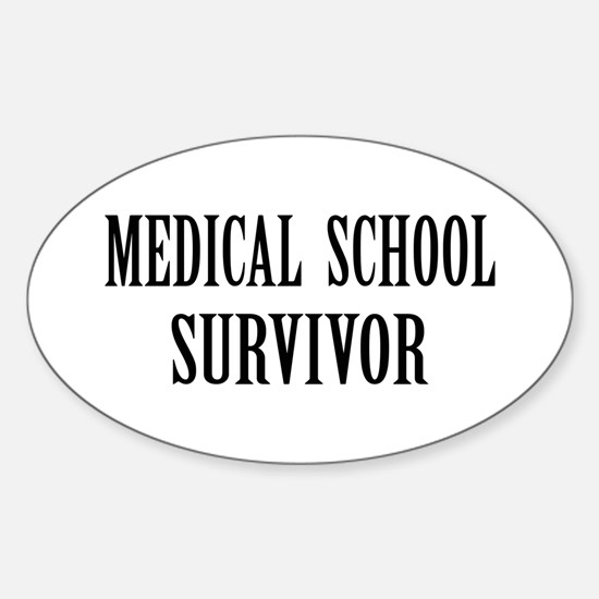 Survived Med School Oval Decal