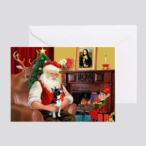 Santas Boston T Greeting Card