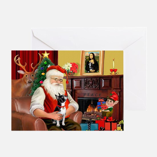 Santas Boston T Greeting Card