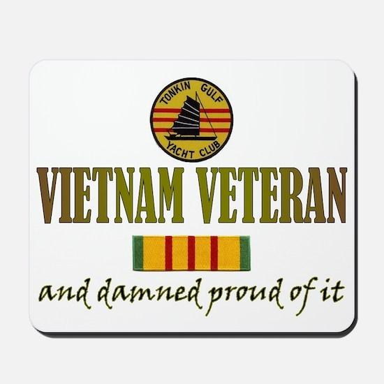Proud Vietnam Vet USN Mousepad