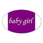 Baby Girl (pink & purple) Oval Sticker (50 pk)