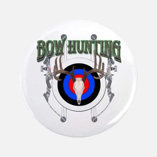 """Bow Hunting 3.5"""" Button"""