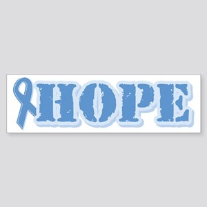 Lt Blue Hope Ribbon Bumper Sticker