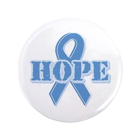 "Lt Blue Hope Ribbon 3.5"" Button (100 pack)"