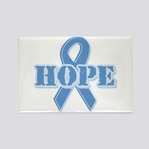 Lt Blue Hope Ribbon Rectangle Magnet