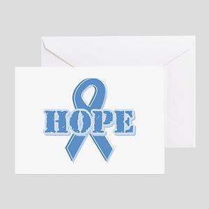 Lt Blue Hope Ribbon Greeting Card