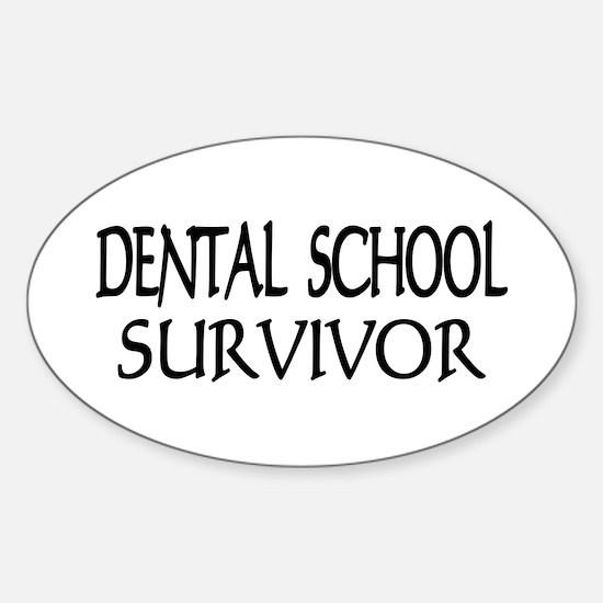 Dental School Graduation Oval Decal