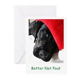 Black labrador retriever christmas Greeting Cards (20 Pack)