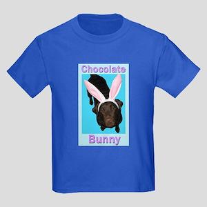 Chocolate Bunny Kids Dark T-Shirt