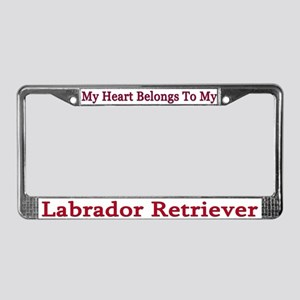 My Heart Belongs to My Lab License Plate Frame